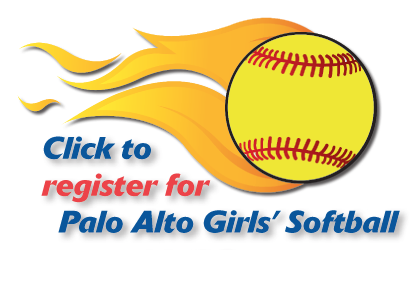 Click to register for Palo Alto Girls' Softball